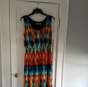 Beautiful multi-colored maxi dress